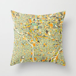 Twin Cities MAP Throw Pillow