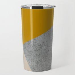 MUSTARD NUDE GRAY GEOMETRIC COLOR BLOCK Travel Mug