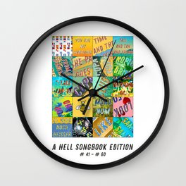 Hell Songbook Edition Complete # 41-60 Wall Clock