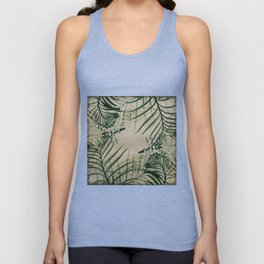 Cycas Leaves Abstract Unisex Tank Top