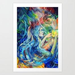 Open your mind, 120-80cm, 2019, oil on canvas Art Print