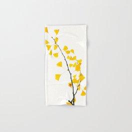gingko biloba branch Hand & Bath Towel