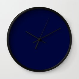 Blue Midnight Wall Clock