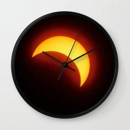 Partial Solar Eclipse Wall Clock