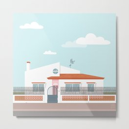 Spanish beach house Metal Print