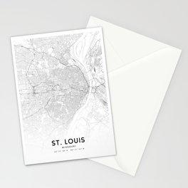 St Louis Map, Art Print By LandSartprints Stationery Cards