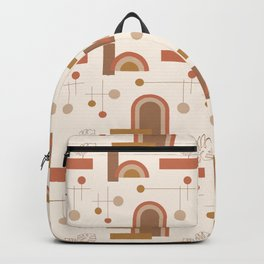 Balanced Earthy Pattern Backpack