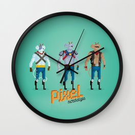Biker Mice from Mars - Pixel Nostalgia Wall Clock