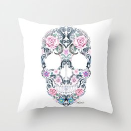 Colorskull Throw Pillow