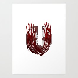 Geek letter U Art Print