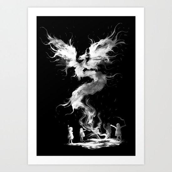 let's the magic begin (black) Art Print