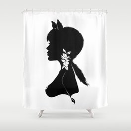Foxy Silhouette Shower Curtain