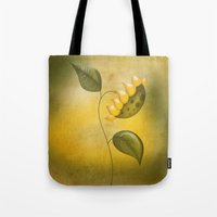 sunflower Tote Bags featuring Sunflower by flamenco72
