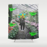 botanical Shower Curtains featuring botanical  by Mike McDonnell