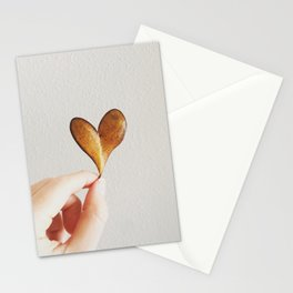 Perfect heart by nature leaf Stationery Cards
