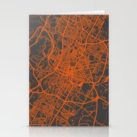 austin Stationery Cards featuring Austin map by Map Map Maps