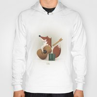 coyote Hoodies featuring Coyote by Manu Galindo