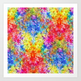 Rainbow Sunshine Tie Dye Art Print