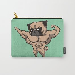 Baby Pug Bodybuilder Carry-All Pouch