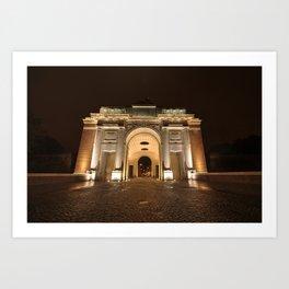 The Menin Gate by Night  Art Print