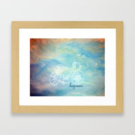 a happy bike ride. Framed Art Print