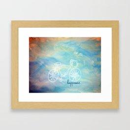 a happy bike ride. Framed Art Print