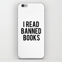 I Read Banned Books iPhone Skin