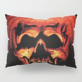 Halloween II Pumpkin Skull Stained Glass Pillow Sham
