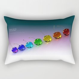 Rainbow Cherries - By THE-LEMON-WATCH Rectangular Pillow