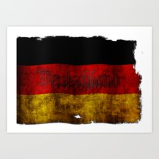 German Flag - Vintage... Art Print
