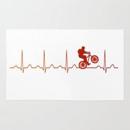 Mountainbike HeartbeatMountainbike Heartbeat Rug