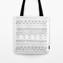 Grey aztec pattern Tote Bag