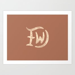 DFW (Dallas Fort Worth) Art Print