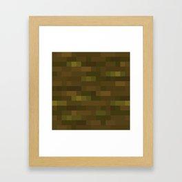 MC Jungle Log / Jungle Wood Framed Art Print