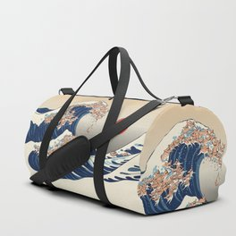 The Great Wave of Chihuahua Duffle Bag