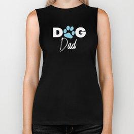 Dog Dad Paw Print Gift For Shelter Animal Lover Biker Tank