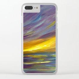 Wispy Sunset Seascape Clear iPhone Case