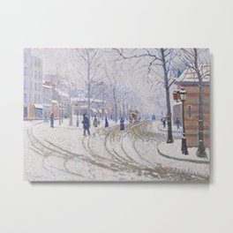 Snow, Boulevard de Clichy, Paris Metal Print