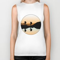 hiking Biker Tanks featuring HIKING by Şemsa Bilge (Semsa Fashion)