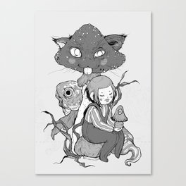 mush cat Canvas Print