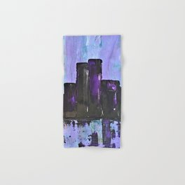 Purple City. Cyber Punk City. Jodilynpaintings Purple City Abstract Hand & Bath Towel