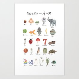 Good Luck from A - Z Art Print