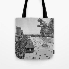 Old Time Godzilla in Atlantic City Tote Bag