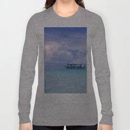 Dhoni aux Maldives Long Sleeve T-shirt