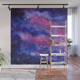 Nebula Galaxy Watercolor Space Sky Wall Mural