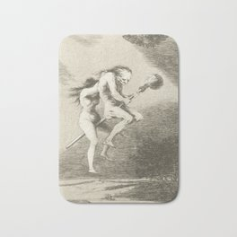Witches on a Broomstick by Francisco Goya, 1797 Bath Mat