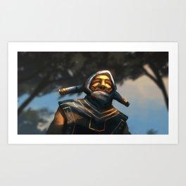 The Golden Overlord Art Print