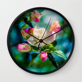 Crabapple flower and buds Wall Clock