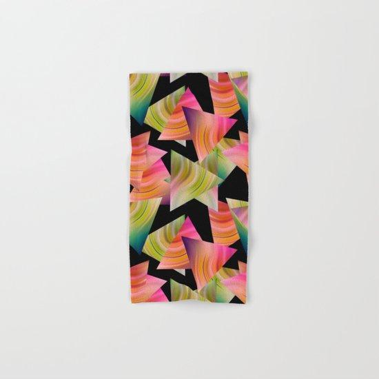 Abstraction . Rainbow triangles . Hand & Bath Towel