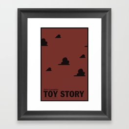 Toy Story | Minimalist Movie Poster Framed Art Print